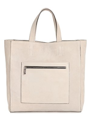 Calvin Klein Collection Suede tote bag with leather pocket