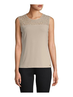 Calvin Klein Embroidered Sleeveless Top