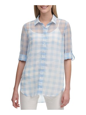 Calvin Klein Gingham Button-Front Shirt