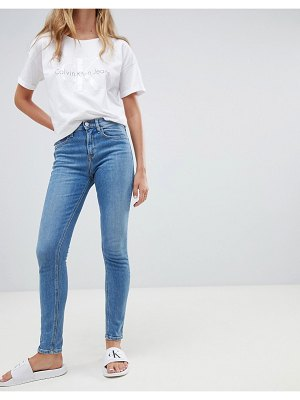 Calvin Klein high rise skinny jeans-blues