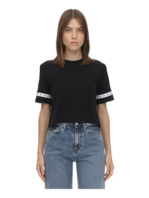 Calvin Klein Jeans Cropped logo side tape t-shirt