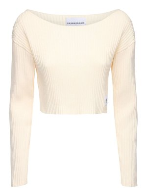 Calvin Klein Jeans Ribbed cotton crop top