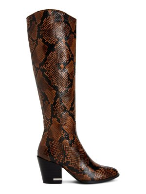 Calvin Klein massie snake embossed knee high boot