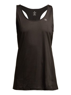 Calvin Klein Performance black reflective logo print tank top
