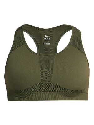 Calvin Klein Performance racerback stretch jersey sports bra