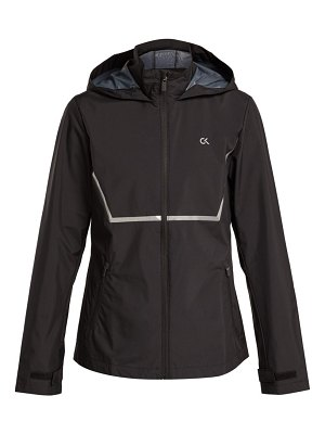 Calvin Klein Performance zip through hooded wind jacket