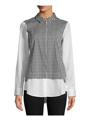 Calvin Klein Collection Pointed Gingham Button-Down Shirt