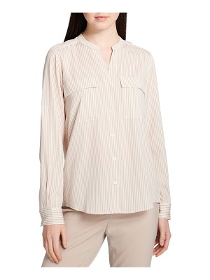 Calvin Klein Printed Button-Front Blouse