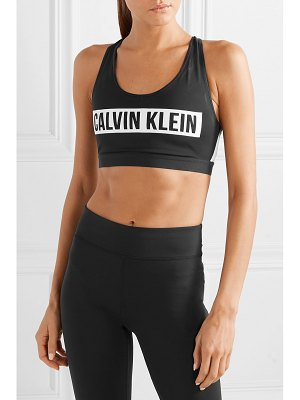 Calvin Klein printed stretch sports bra