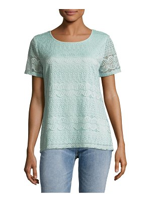 Calvin Klein Short Sleeve Lace Top