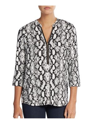 Calvin Klein Collection Roll-Sleeve Printed Top
