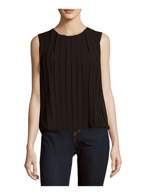 Calvin Klein Collection Solid Box-Pleat Top