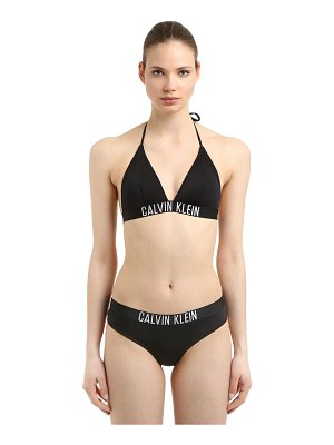 CALVIN KLEIN SWIMWEAR Logo band triangle bikini top
