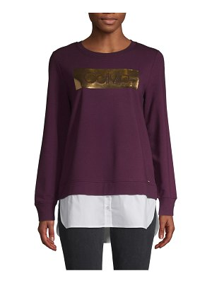 Calvin Klein Twofer Cotton-Blend Sweatshirt