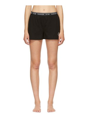 Calvin Klein Underwear black ck one basic sleep shorts