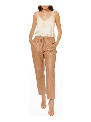 CAMI NYC Adene Belted Vegan Leather Pants