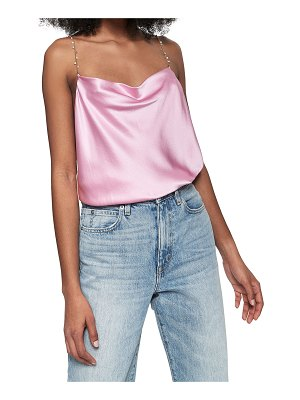 CAMI NYC Busy Bead Cami w/ Pearl Chain Straps