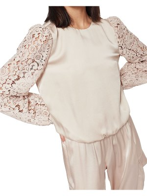 CAMI NYC Effy Lace-Sleeve Silk Top