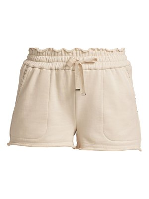 CAMI NYC lynley embellished cotton terry shorts