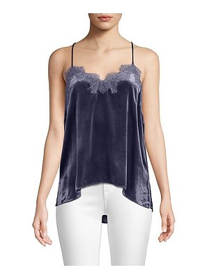 CAMI NYC racer liquid velvet top