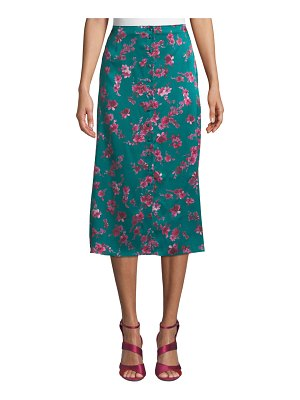 CAMI NYC The Annabelle Floral Button-Front Midi Skirt