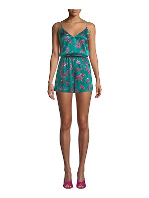 CAMI NYC The Brielle Floral Tie-Back Silk Romper