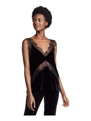 CAMI NYC the josie velvet top