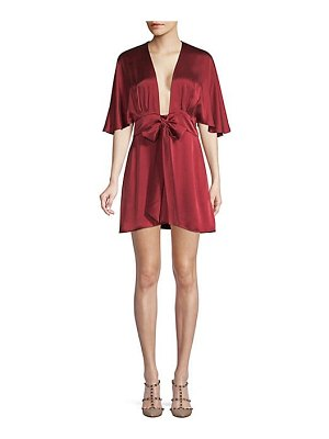 CAMI NYC the lane tie-front silk dress