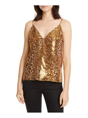 CAMI NYC the olivia metallic silk blend camisole