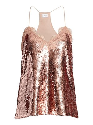 CAMI NYC the racer sequin camisole