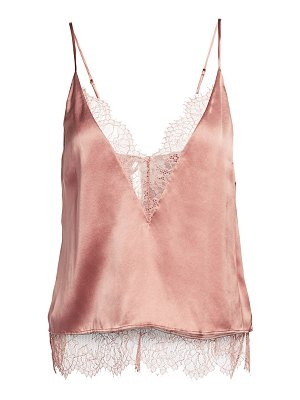 CAMI NYC the shay lace trim silk camisole
