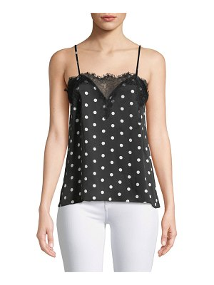 CAMI NYC The Sweetheart Floral Charmeuse Cami with Lace
