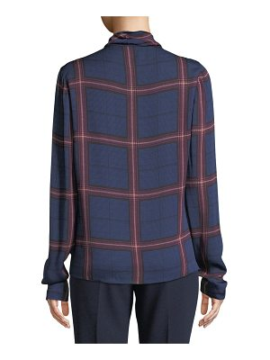 camilla and marc Alaine Cowl-Neck Top in Check