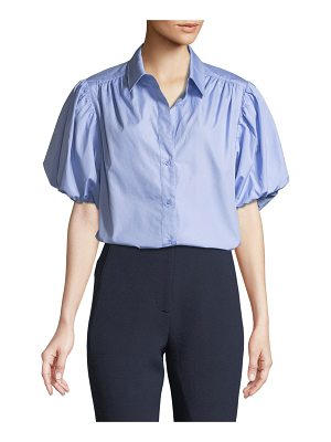 camilla and marc Riley Ruched Puff-Sleeve Shirt
