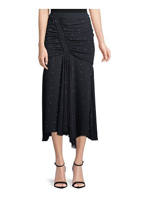 camilla and marc Scarlett Dot-Print Ruched Skirt