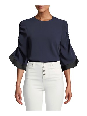 camilla and marc Yolanda Ruched-Sleeve Top