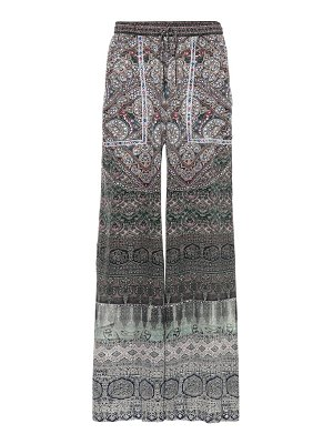 Camilla Embellished printed silk pants