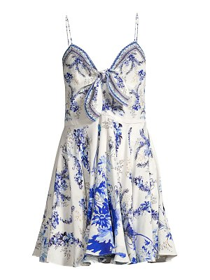 Camilla embellished silk floral dress