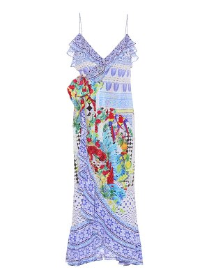 Camilla Embellished silk maxi dress