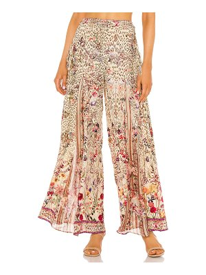 Camilla lace up side flare pant