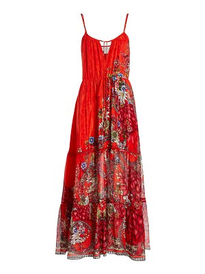 Camilla mother floral tiered maxi dress
