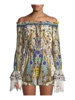 Camilla off-the-shoulder romper