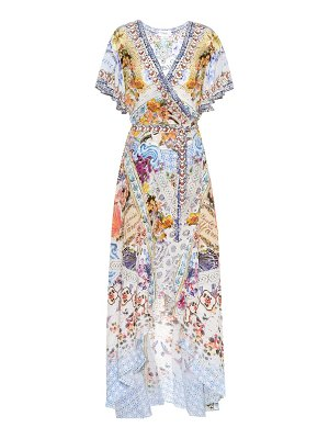 Camilla Printed silk wrap dress