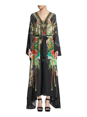 Camilla Queen Of Kings Embellished Floral Maxi Dress