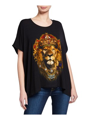 Camilla Rebelle Leopard Short-Sleeve Loose-Fit Graphic Tee