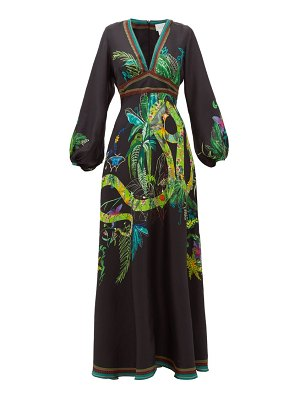 Camilla river cruise silk-satin maxi dress