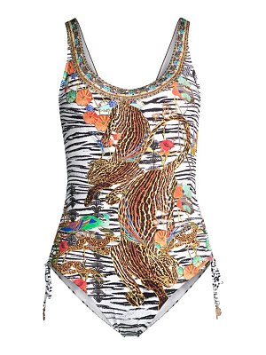 Camilla ruched one-piece swimsuit