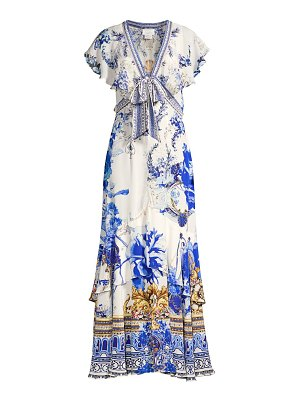Camilla silk embellished maxi dress