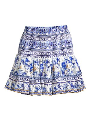 Camilla silk embellished mini skirt