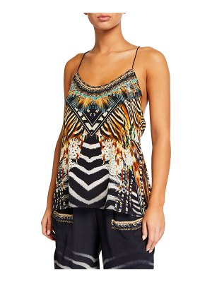 Camilla T-Back Shoestring Top